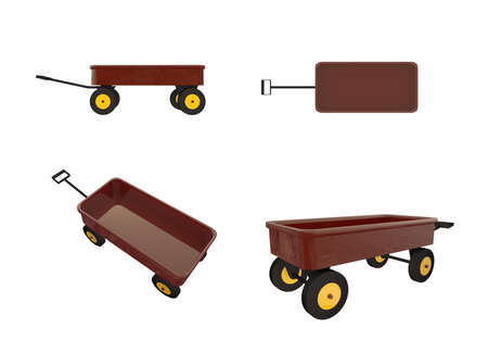 toy wagon isolated on white background photo