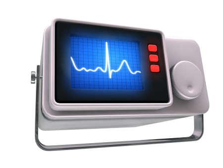 small medical monito isolated on white background photo