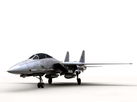 fighter plane f14 isolated on white background Stock Photo