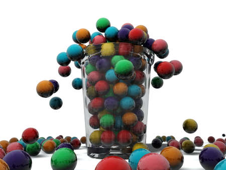 gumballs in a glass Stock Photo - 10771353