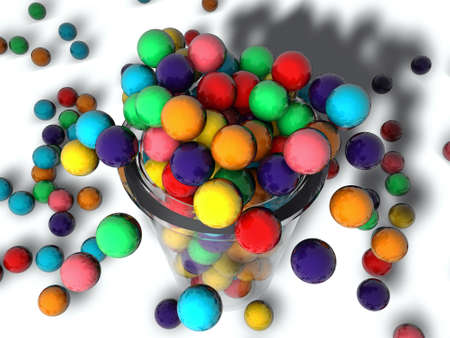 gumballs in a glass Stock Photo - 10771356