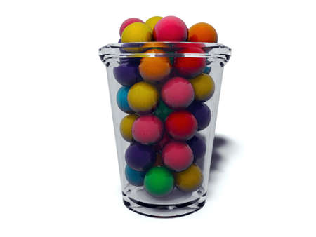 multicolored gumballs: gumballs in a glass