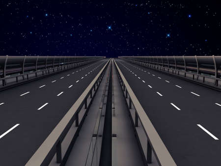 highway section under the stars photo