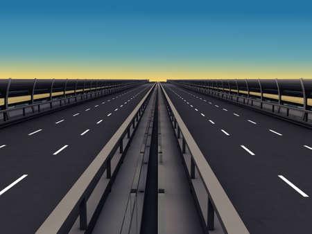 autopista: secci�n de autopista en degradado azul