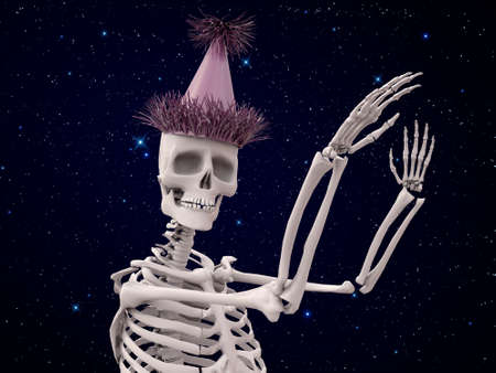 party system: party skeleton dancing under the stars