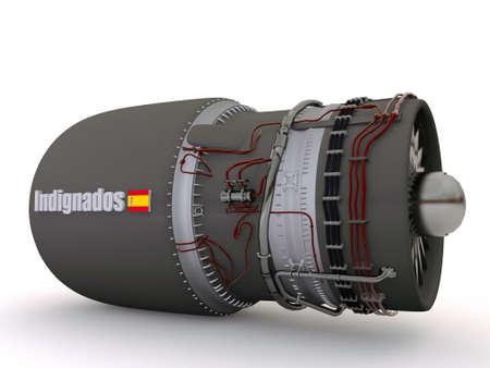 indignados atomic bomb isolated on white background Stock Photo - 10963695