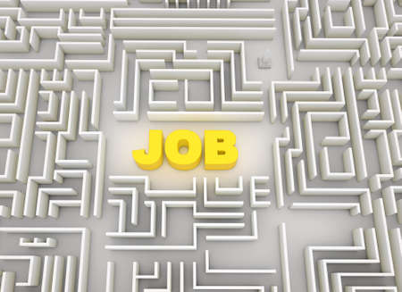 job labyrinth  Stock Photo - 10963694