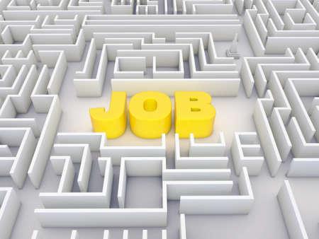 job labyrinth Stock Photo - 10963691