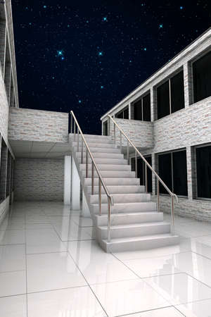 stairs in the night photo