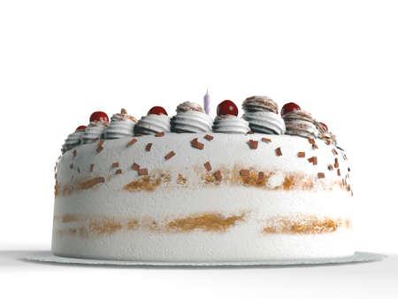 icing sugar: birthday cake