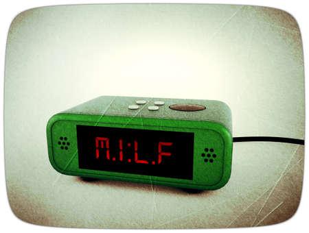 digital alarm clock display milf Stock Photo - 11036019