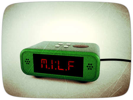 digital alarm clock display milf