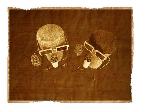 corks in old photo Stock Photo - 11255741