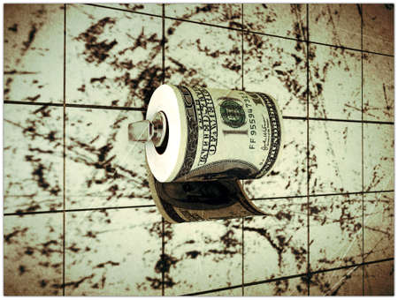 dollar toilet paper Stock Photo - 11255749