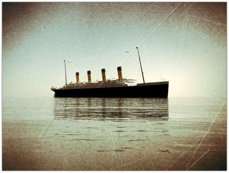 titanic in old picture Stock Photo - 11255748