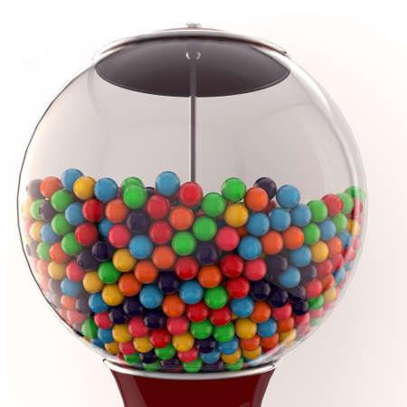 gum balls isolated on white background photo