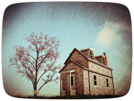 old country house in grunge photo photo