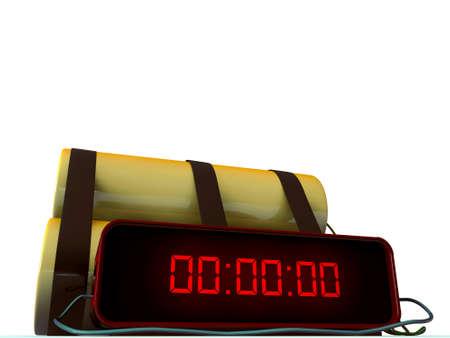 time bomb isolated on white background Stock Photo - 11452625