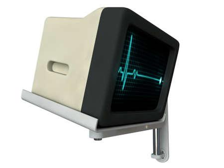 medical monitor isolated on white background photo