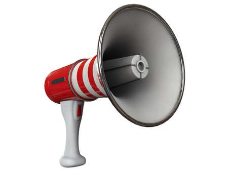 megaphone isolated on white background photo
