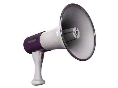 mega phone: megaphone isolated on white background