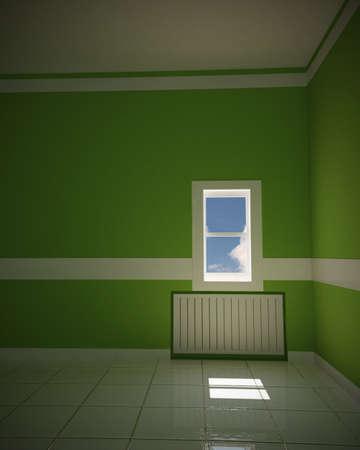 green empty room Stock Photo - 12327598