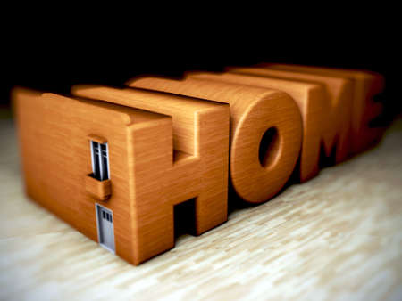 architectural styles: home logo on wooden floor