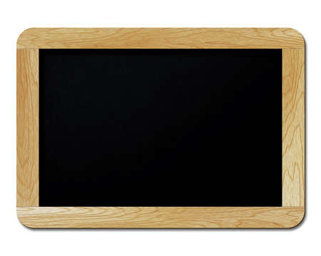 black boards: blank blackboard isolated on white background Stock Photo