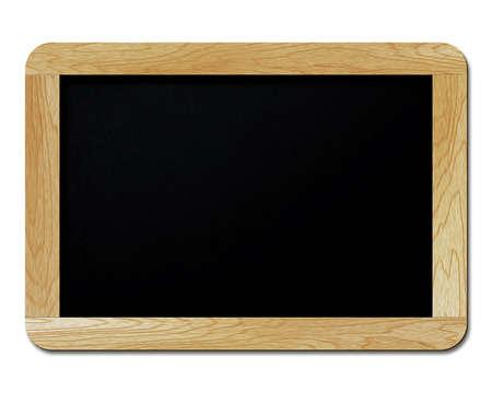 chalk writing: blank blackboard isolated on white background Stock Photo