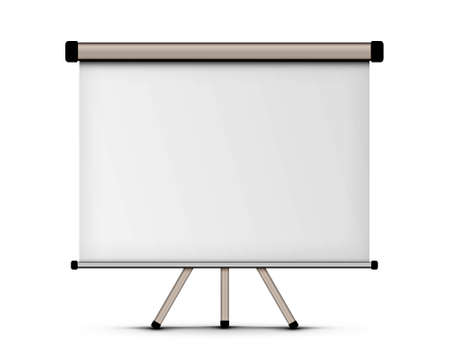 slideshow: blank projection screen