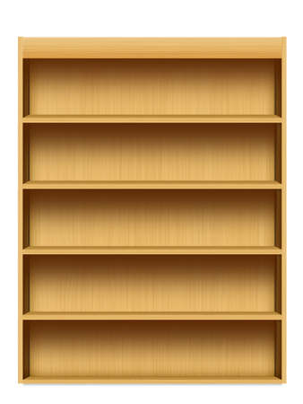 shelf isolated on white background photo