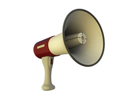 megaphone isolated on white background Stock Photo - 12946553
