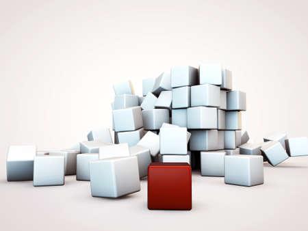 cubes isolated on white background photo