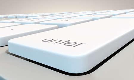 botón enter en el teclado blanco Foto de archivo