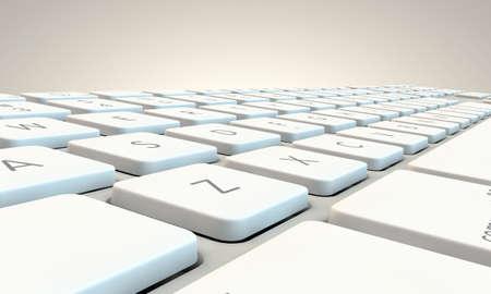 toetsenbord: wit toetsenbord op een witte achtergrond