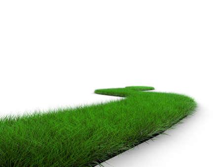 overgrown: grass road Stock Photo
