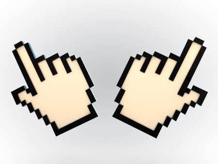 hand cursor isolated on white background photo