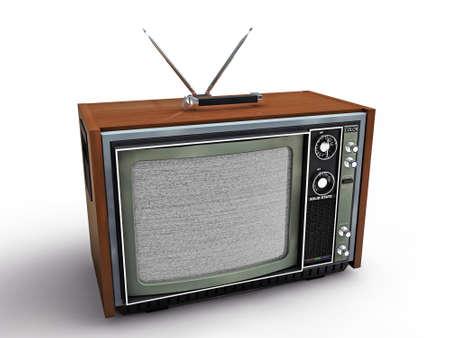 old tv retro style isolated on white background photo
