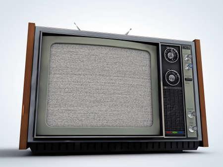 le style vieille télé rétro isolé sur fond blanc Banque d'images