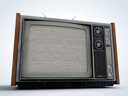 old tv retro style isolated on white background Stock Photo - 13308132