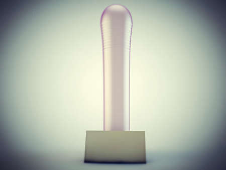 pink dildo isolated on white background Stock Photo - 13372640