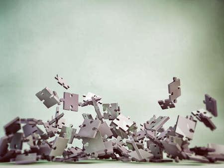 piezas de rompecabezas: piezas de un rompecabezas que caen