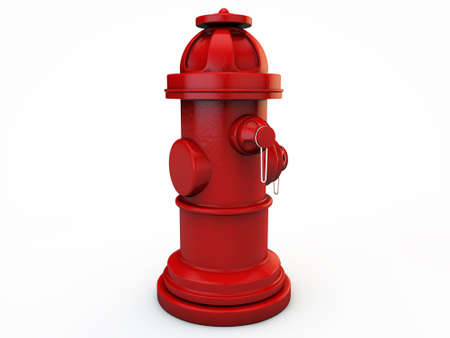 hydrant isolated on white background photo