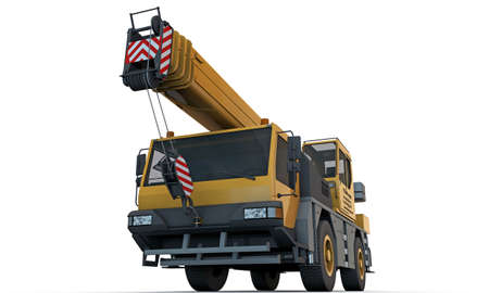 crane: crane truck isolated on white background