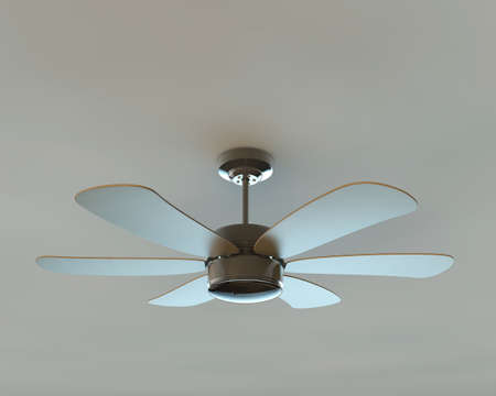 ceiling fan isolated on white background photo