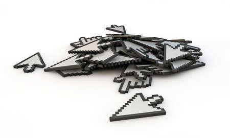 cursors isolated on white background photo
