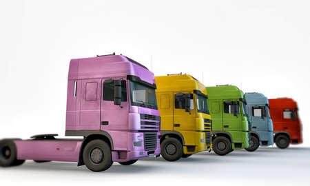 白い背景で隔離のトラック