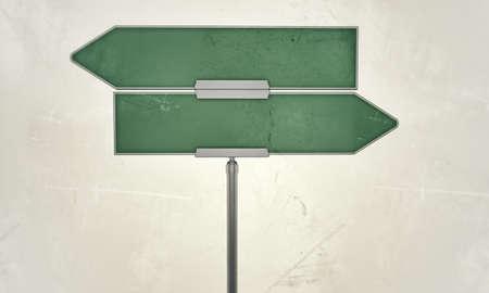 Straßenschild isoliert auf weißem Hintergrund