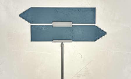 street sign isolated on white background photo