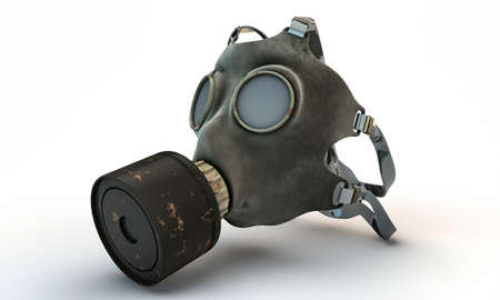 gasmasker: gas masker geïsoleerd op witte achtergrond